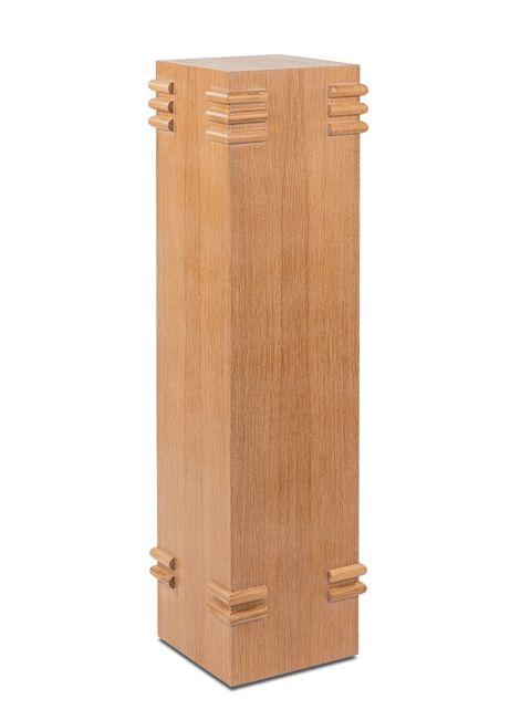 square wood pedestal