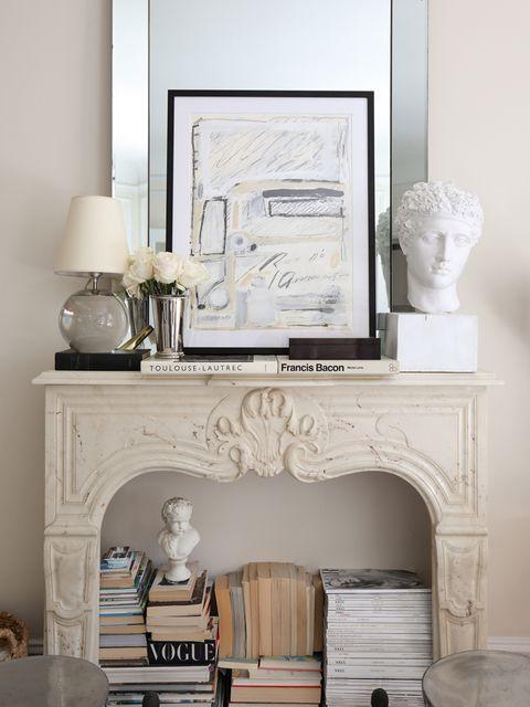 Furniture, Room, Fireplace, Living room, Table, Wall, Interior design, Home, Desk, Dresser,