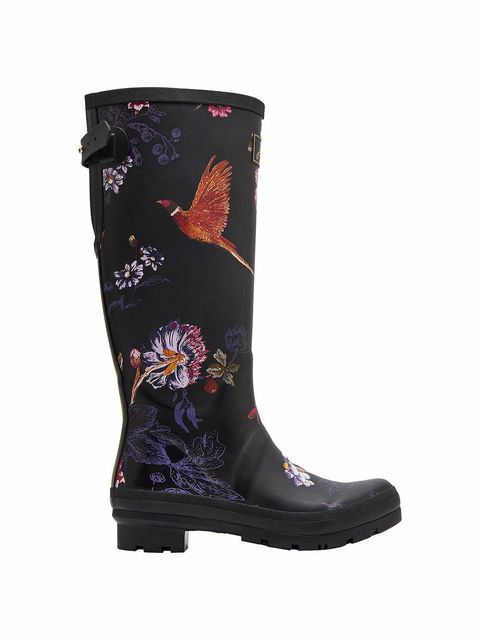 Joules floral printed wellies photo