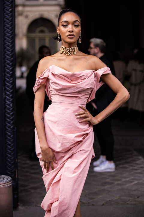 jourdan dunn at the vivienne westwood show in february 2020