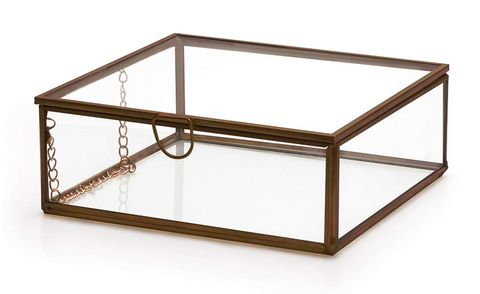 Caja retro de cristal