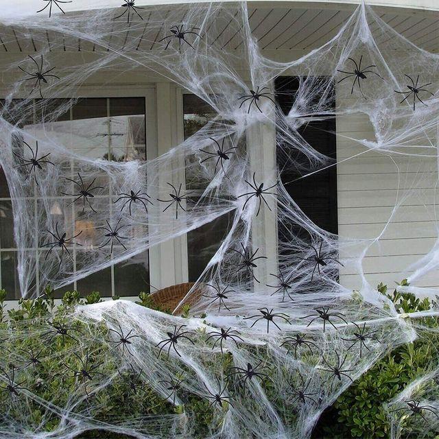 amazon fake halloween spider webs