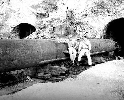 Infrastructure, Monochrome, Monochrome photography, Black-and-white, Pipe, Stock photography, Tunnel,