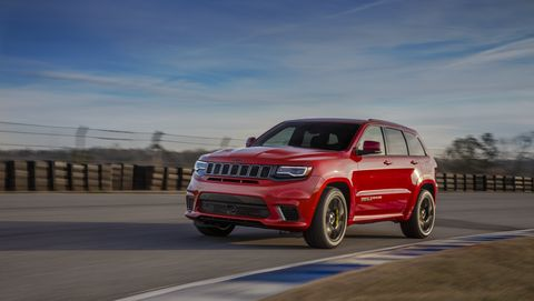 2020 Jeep Grand Cherokee Trackhawk on track