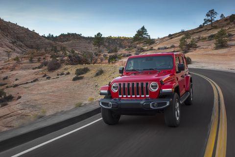 Land vehicle, Vehicle, Car, Automotive tire, Tire, Jeep, Jeep wrangler, Off-road vehicle, Road, Bumper,