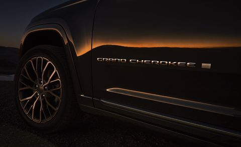 all new 2021 jeep® grand cherokee l summit reserve exterior grand cherokee badge