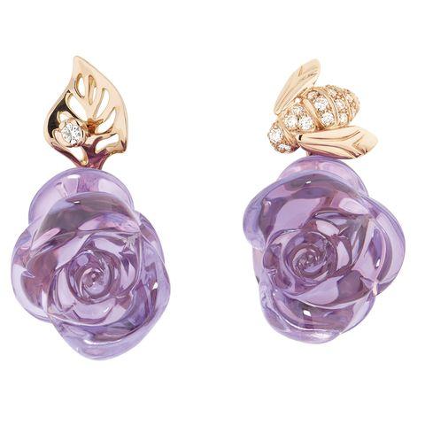dior amethyst earrings
