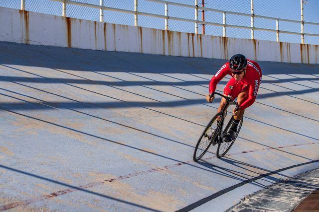 cyclist juan carlos ruiz teran trains amidst coronavirus pandemic