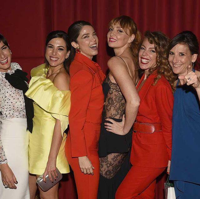 Belén López, Alicia Rubio, Juana Acosta, Cristina Castaño, Silvia Marty y Malena Alterio