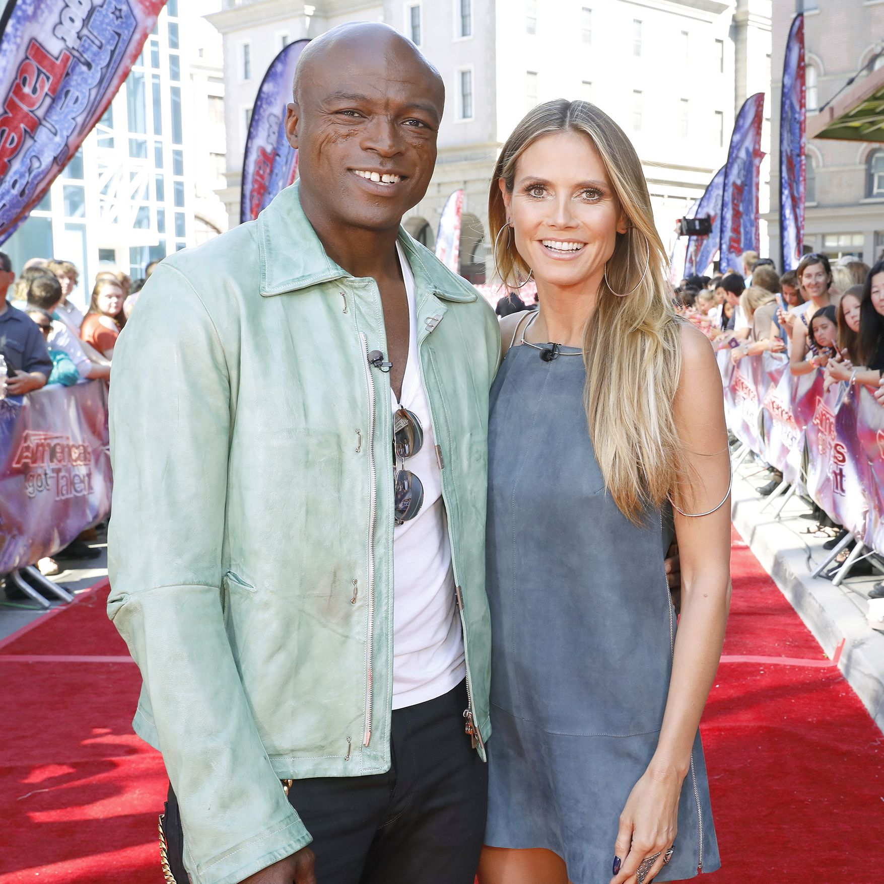 Seal and Heidi Klum People loved Heidi and Seal for how fun, in love, and compatible they seemed. Seal adopted and raised Heidi's daughter Leni, and the couple had three biological children together.