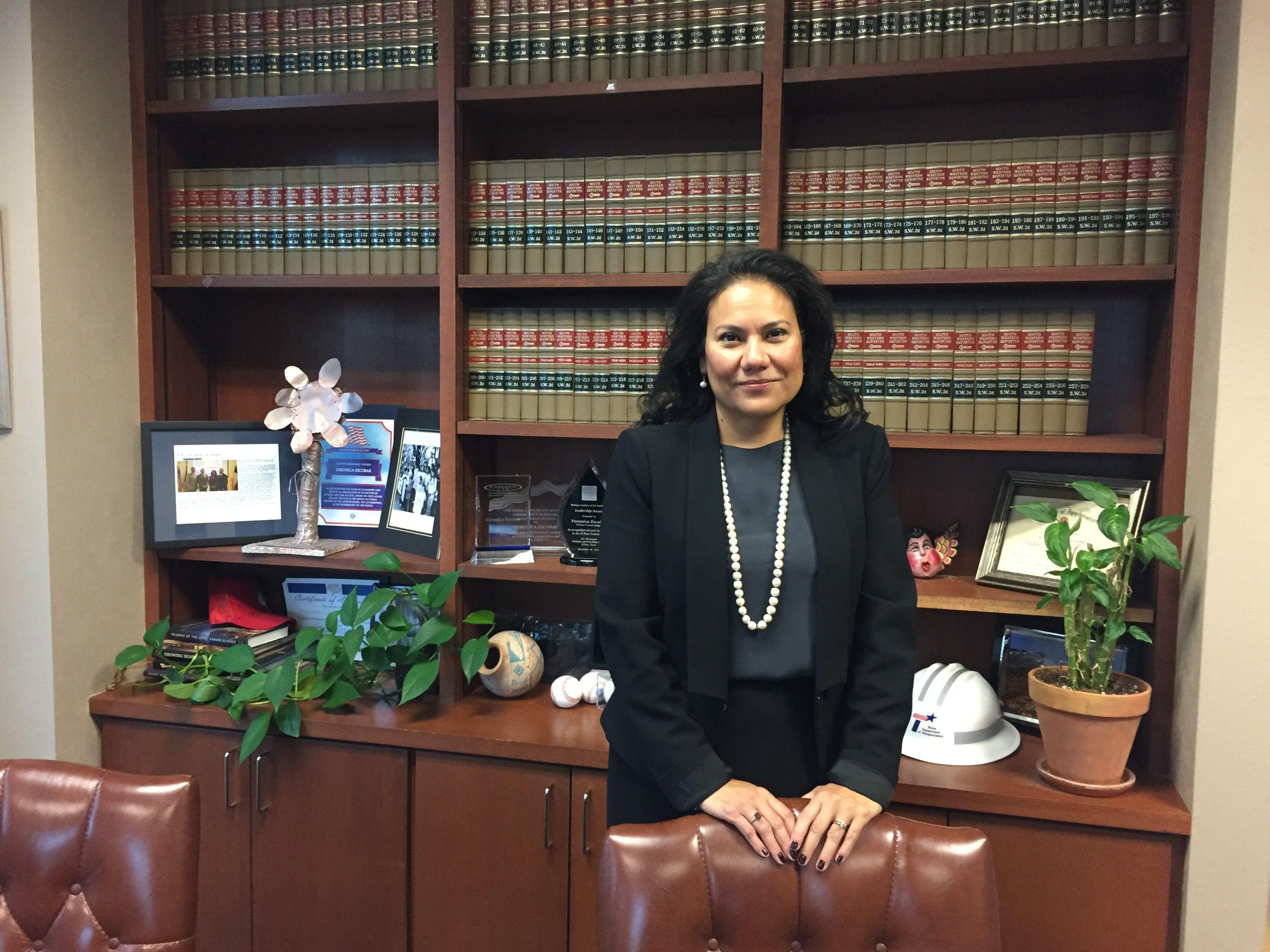 EL PASO, TX - NOVEMBER 3: Judge Veronica Escobar in her office