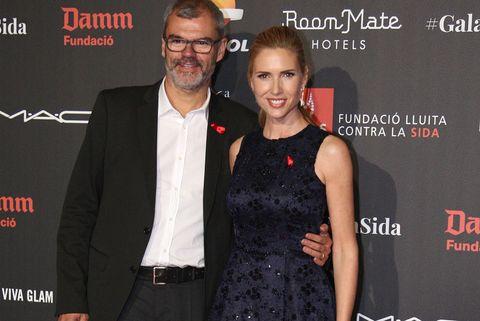 Judit Mascó celebra sus 25 años de matrimonio junto a su marido, el abogado Eduardo Vicente.