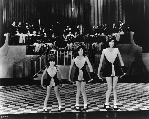 Young Judy Garland with the Gumm Sisters on Stage