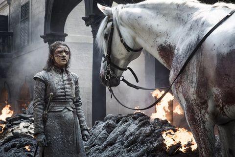 juego de tronos 8x05 arya caballo blanco