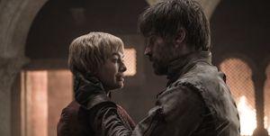 Jaime Lannister y Cersei en el episodio 'Las campanas' de 'Juego de tronos'.