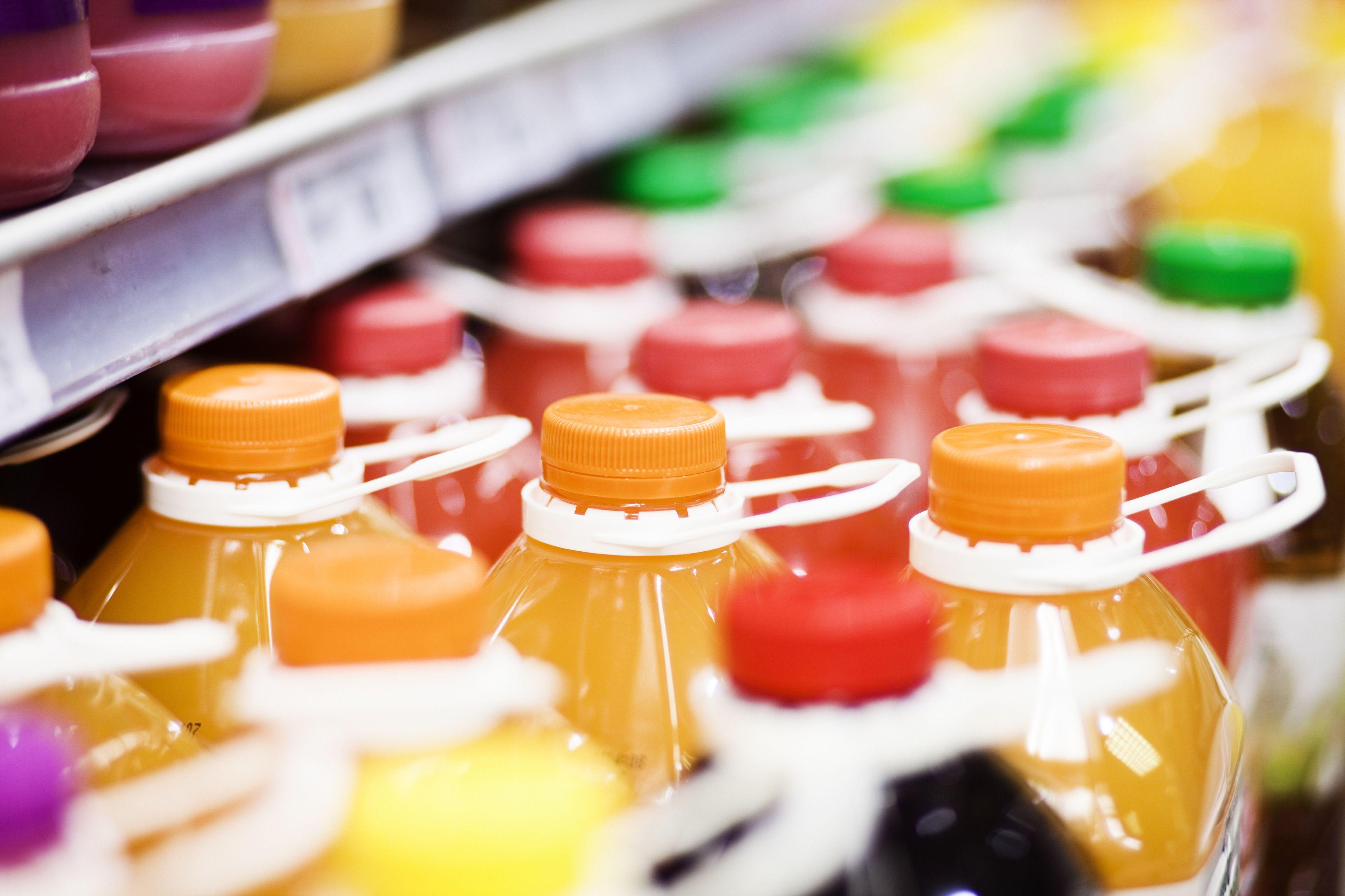 Juice in a supermarket
