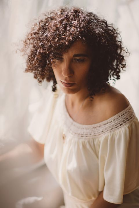 Hair, White, Hairstyle, Shoulder, Beauty, Skin, Afro, Brown, Lip, Ringlet,