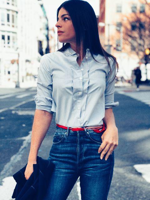 Denim, Jeans, Clothing, White, Black, Street fashion, Blue, Shirt, Lip, Beauty,