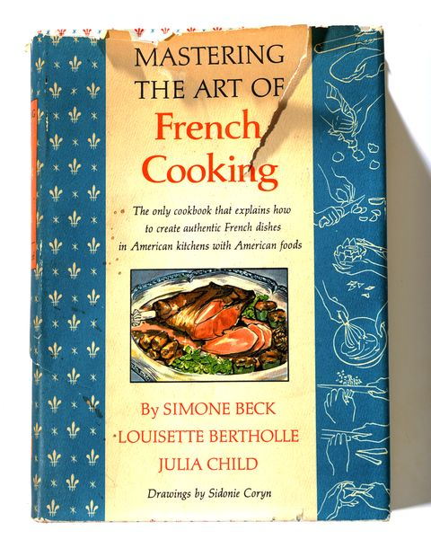 """(CM) JuliaChildCookbook_CM An old original Julia Child cookbook, """"Mastering the Art of French Cooking"""" on Wednesday, July 29, 2009. . Cyrus McCrimmon, The Denver Post"""