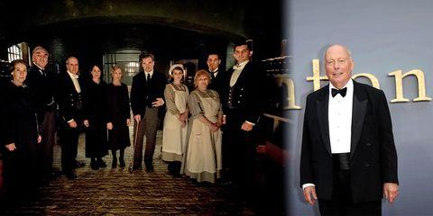 """Julian Fellowes y los criados de """"Downton Abbey"""""""