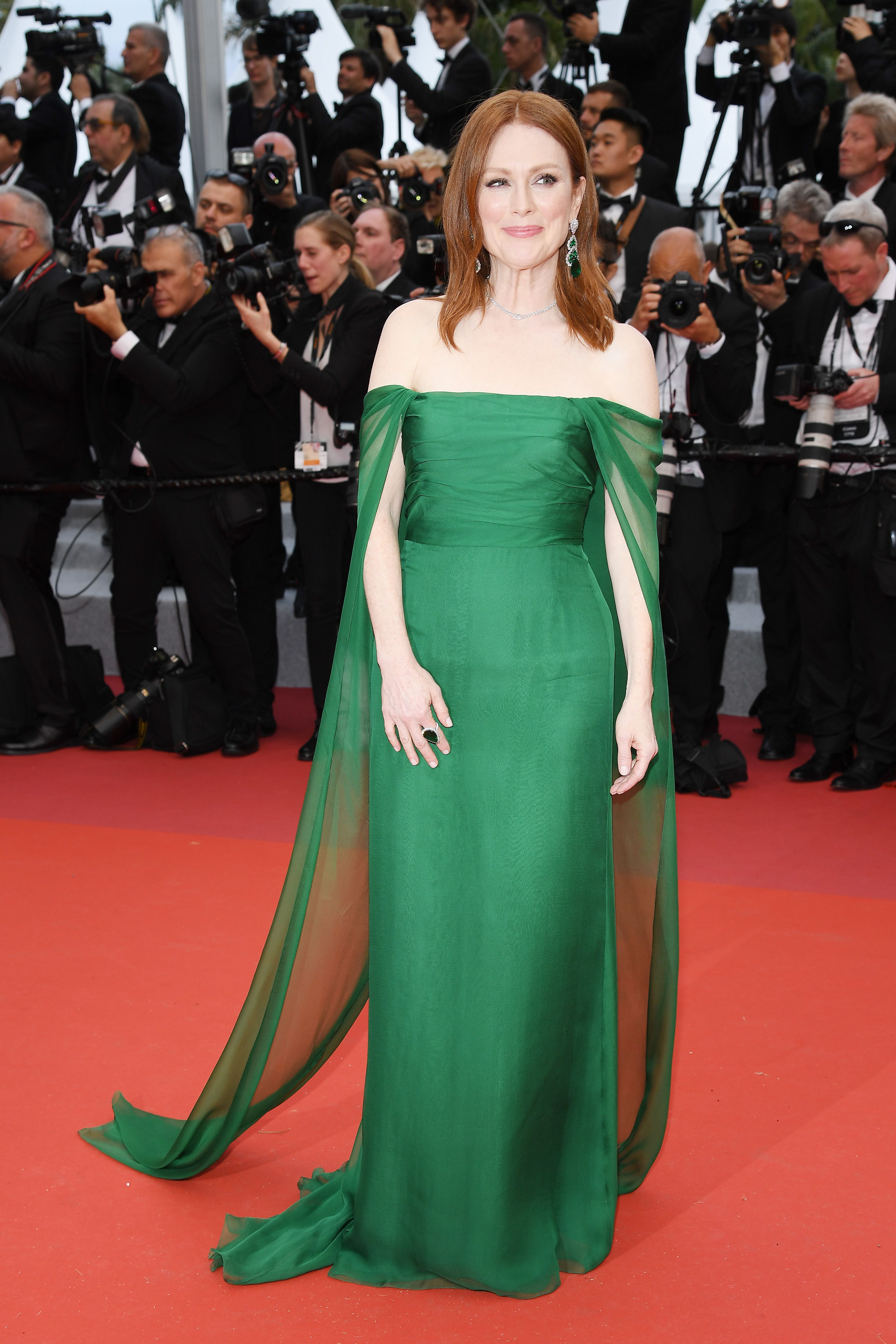 Julianne Moore At the opening ceremony of the Cannes Film Festival and premiere of The Dead Don't Die .