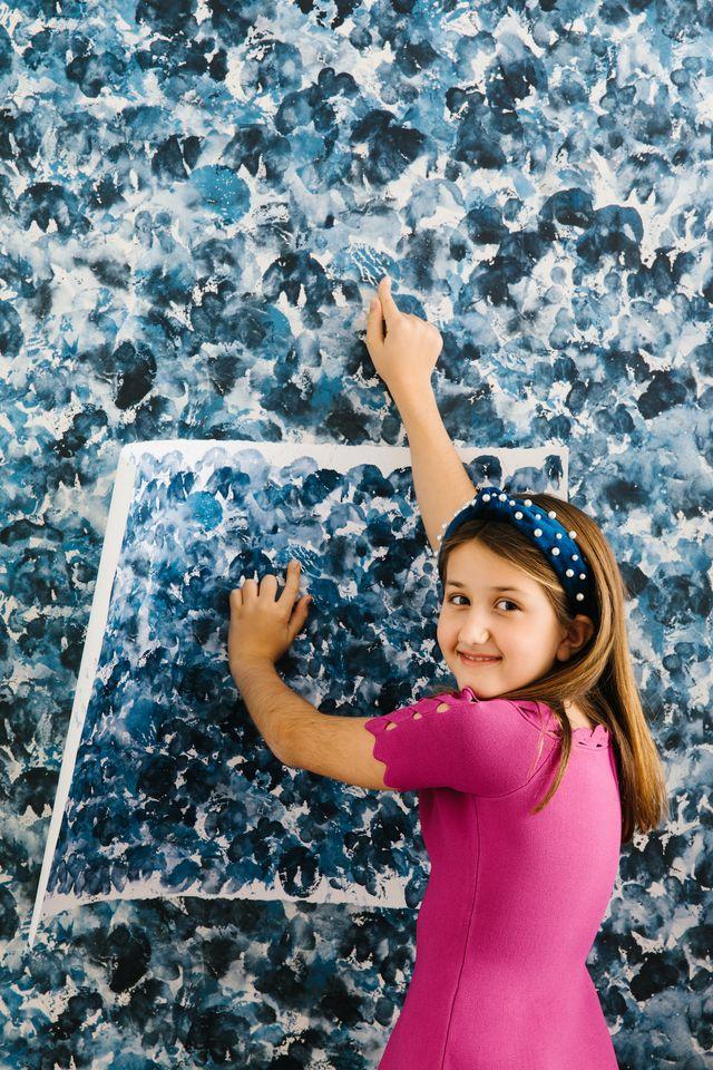 9 year old juliette dreele designs her first wallpaper