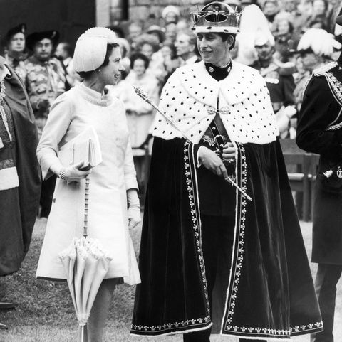 Queen Elizabeth Ii And The Prince Of Wales In 1969
