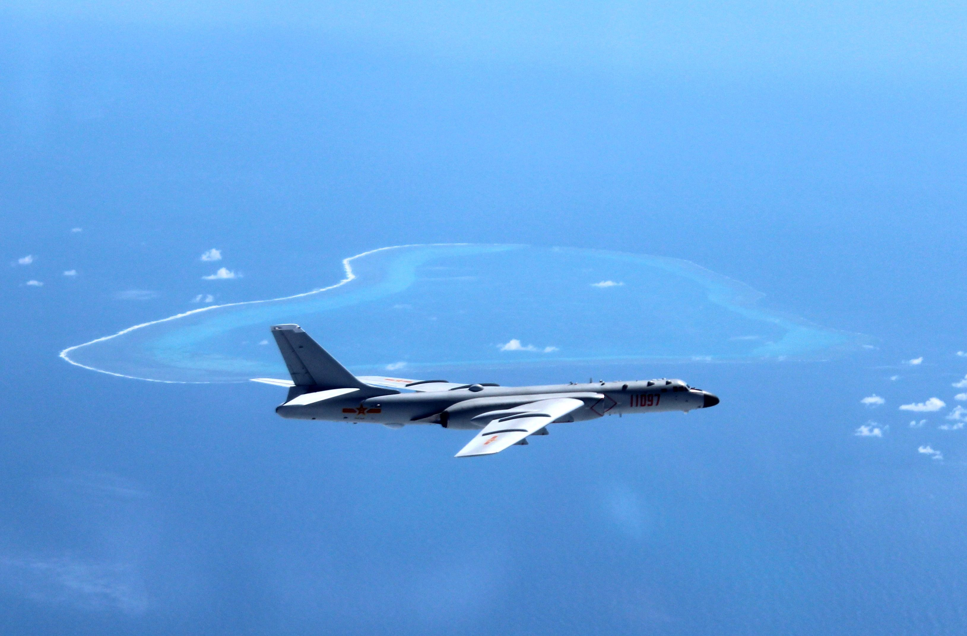 Chinese Bombers Carried Out a Mock Attack on a Real U.S. Aircraft Carrier