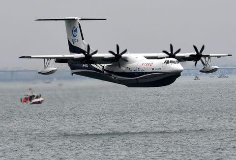 eyesonscichina shandong ag600 vuelo inaugural desde el mar