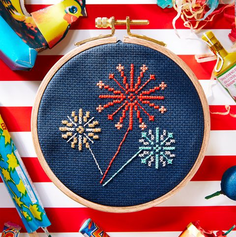 free cross stitch pattern fireworks 4th of july