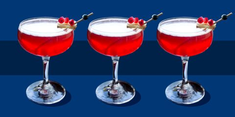 Drink, Alcoholic beverage, Cocktail, Martini glass, Cocktail garnish, Non-alcoholic beverage, Champagne cocktail, Pink lady, Champagne stemware, Stemware,
