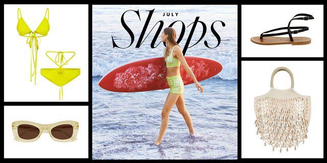 elle july shops swim crochet bag bikini