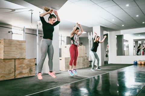 jumping jacks in gym