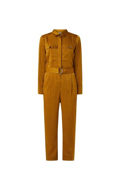 Clothing, Yellow, Suit, Outerwear, Workwear, Trousers, Sleeve, Rain suit, Overall, Beige,