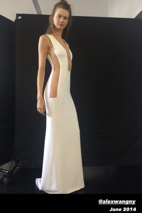 behati in reception dress