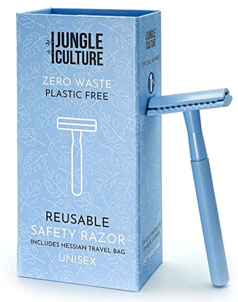 jungle culture safety razor blauw