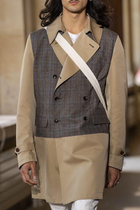 Clothing, Outerwear, Fashion, Beige, Waist, Shoulder, Suit, Fashion design, Jacket, Blazer,