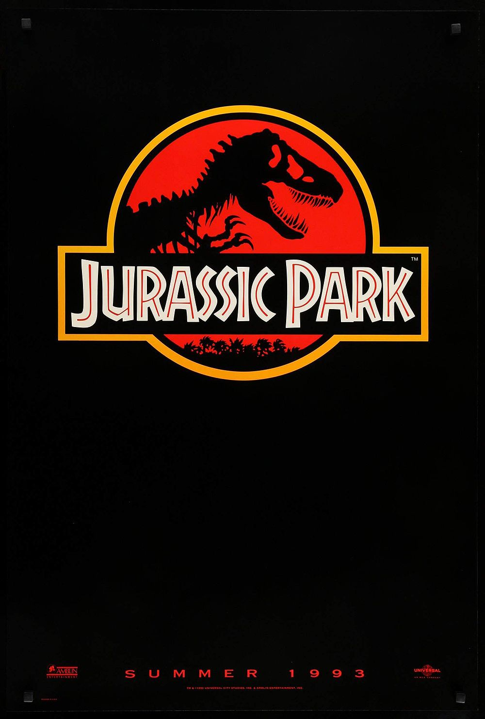 Jurassic Park (1993) Jurassic Park , directed by Steven Spielberg, is set on an island turned into a park of cloned dinosaurs and... (Do you really not know what Jurassic Park is about? Or where we're going with this?) Anyway, the dinosaurs in the film were depicted with groundbreaking computer-generated imagery and the film was the highest-grossing film of all time until Titanic . It also spawned many, many sequels, which eventually led to this gif of Chris Pratt .
