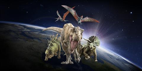Dinosaurios en el espacio