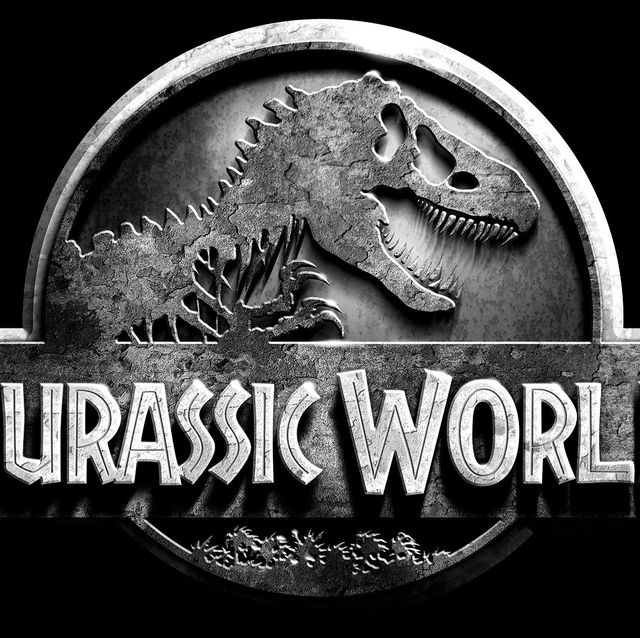 Dinosaur, Logo, Font, Tyrannosaurus, Graphics, Brand, Black-and-white, Metal, Trademark,
