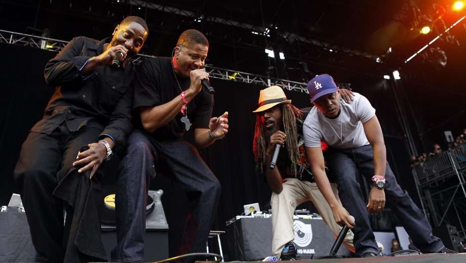 Jurassic 5 appeared at Outside Lands in San Francisco after reuniting in 2013. The hip-hop group performs at the California Roots Music & Arts Festival in Monterey on Sunday, May 28.