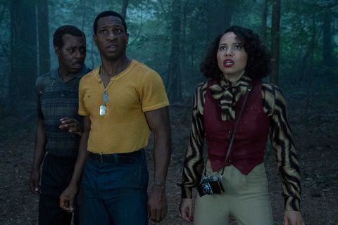 courtney b vance, jonathan majors, and jurnee smollett in lovecraft country