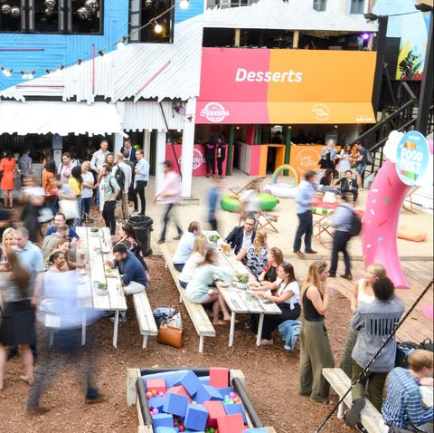 People, Crowd, Community, Event, Public space, Youth, Neighbourhood, Tree, Festival, Fair,