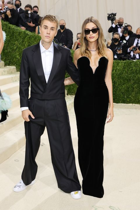 Justin and Hailey Bieber Matched in Black Outfits at the 2021 Met Gala