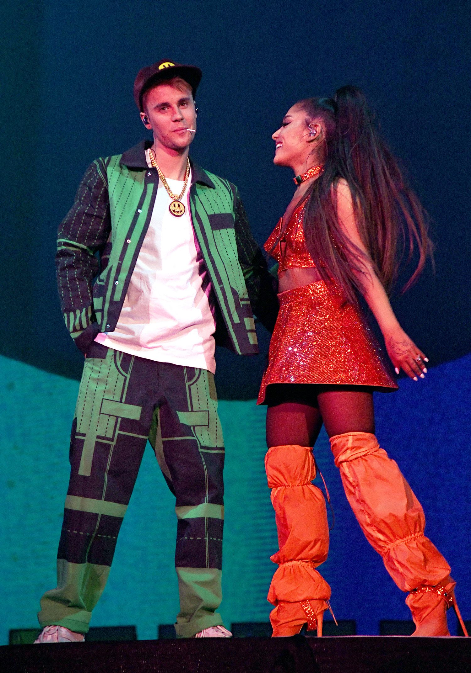 Watch Justin Bieber Perform With Ariana Grande At Coachella And Do First Concert In Years