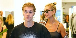 Justin Bieber en Hailey Baldwin gefotografeerd op straat