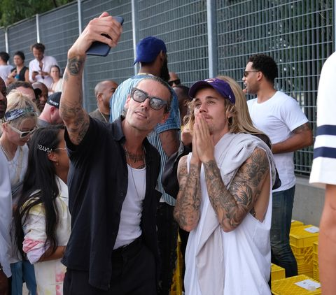 7c4eef334f1 Justin Bieber and Hailey Baldwin Attend John Elliott s New York ...