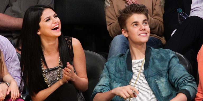 selena gomez justin bieber lakers game