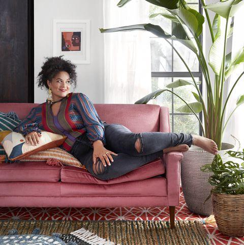 Furniture, Couch, Leg, Room, Sitting, Comfort, Futon, Textile, Chaise longue, Interior design,