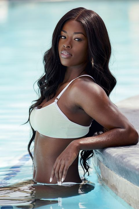 Meet Justine Ndiba, who is looking for love on Love Island this summer.  Eleven sexy singles are ready to mate and meet their match in the special two-hour premiere, Monday, August 24th, 800-1000 PM, Air Sunday Friday 900-1000 PM, etpt and special two-hour episodes Air Saturday 800-1000 PM etpt Photo Robert Voetscbs Entertainment 2020 cbs Broadcasting, Inc. All rights reserved